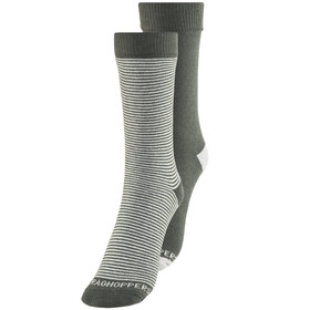 Craghoppers NosiLife Socks Men Twin Pack Charcoal/Soft Grey Marl